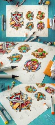 Некоторые работы и скетчи Майка aka Creative Mints