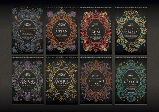 Упаковка для продукции зонтичного бренда Finest торговой сети Tesco