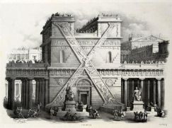 Великолепные гравюры 18 века с «архитектурным алфавитом» (Antonio Basoli, Alfabeto Pittorico)