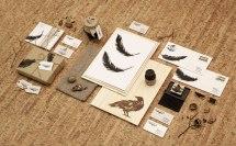 Фирменный стиль магазина винтажных вещей «Воронье Гнездо».