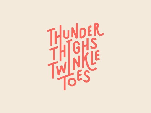 Логотип Thunder Thighs Twinkle Toes