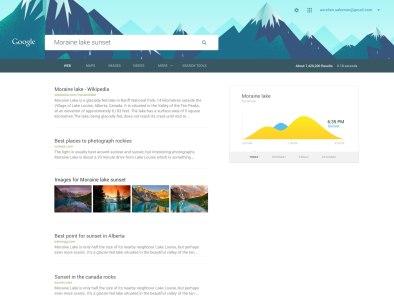 Как может выглядеть поиск Гугла, оформленный по гайдам материального дизайна