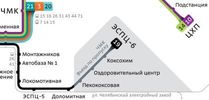 Схема челябинских трамваев