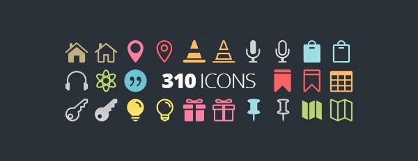 310 полностью бесплатных иконок для веба