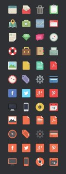 Ещё 48 бесплатных плоских иконок.