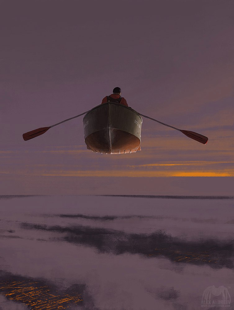 Свежие работы питерского художника Алекса Андреева (серия «A Separate Reality»)