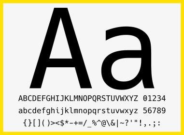 Новый бесплатный моноширинный шрифт с кириллицей «Хак»