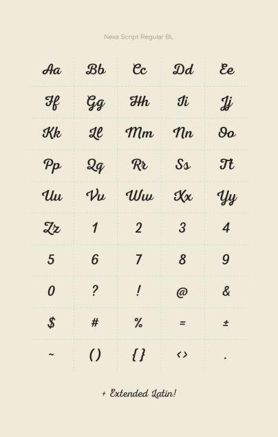 Новый частично бесплатный шрифт с кириллицей Nexa Script