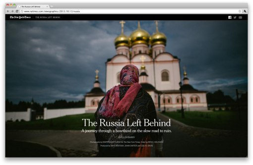 Сайт спецпроекта Нью-Йорк Таймс «The Russia Left Behind».