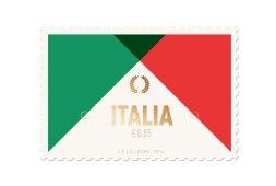 Минималистские почтовые марки