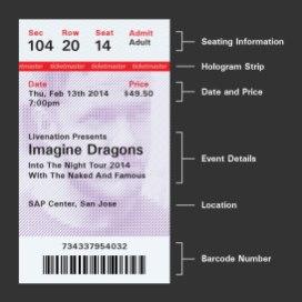 Дизайн концертных билетов