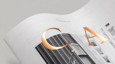 Дизайн и вёрстка журнала о финансах Capital