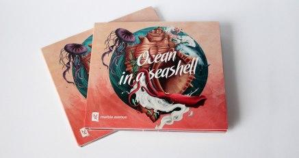 Дизайн музыкального альбома Ocean in a seashell группы Marble Avenue, выполненный дрезденским дизайнером Мартином Гросом (Martin Grohs)