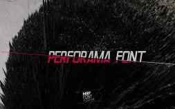 Бесплатный шрифт Perforama.