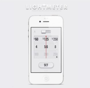 Концепт мобильного приложения Lightmeter