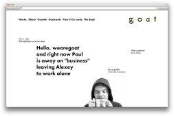 5 сайтов с типографико-ориентированным дизайном. Ссылки в описаниях картинок.