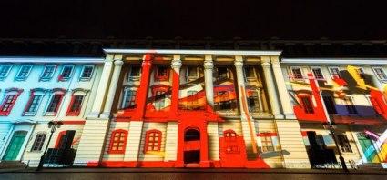 «Веймар, гений места» (Genius Loci Weimar). Международный фестиваль, посвященный мультимедийным проекциям на фасадах.