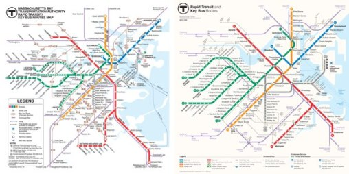 Новая схема бостонского метро