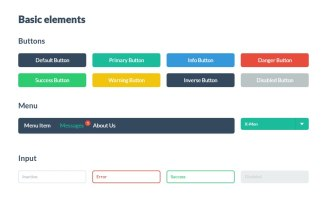 Flat UI — бесплатный набор UI-элементов. Сразу готов к употреблению в разработке (HTML+CSS+JS).