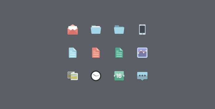 5 комплектов бесплатных нестандартных иконок скачать без регистрации и смс
