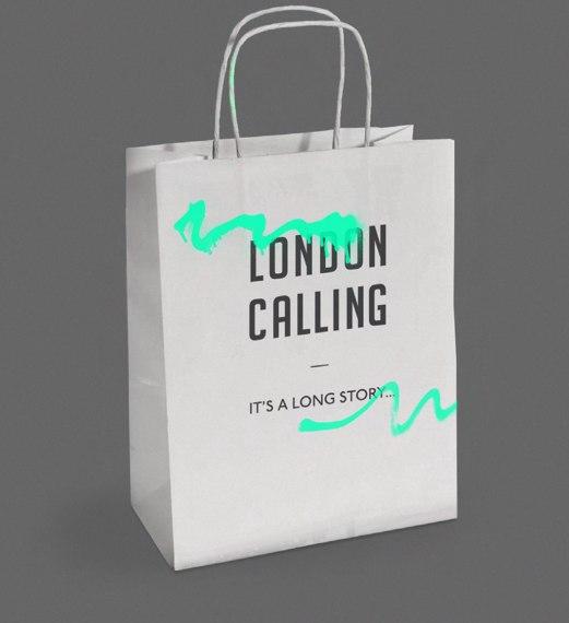Фирменный стиль магазина одежды London Calling