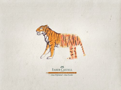 Реклама Faber Castell (производитель и продавец разнообразных товаров для творчества). Автор — Lorena Salazar Masso