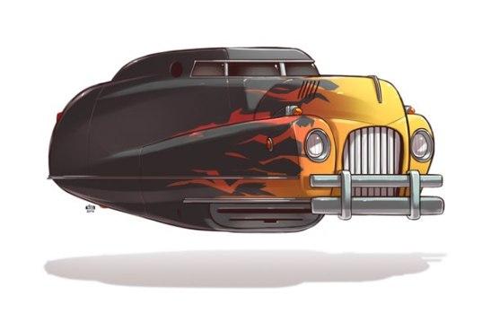 Машинки из будущего. Серия иллюстраций Идо Йохимовица.