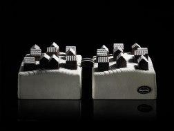 Дизайн рождественских тортов для магазина Häagen-Dazs на Елисейских Полях