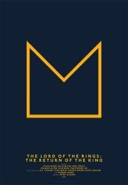 Минималистские кино-постеры на простой сетке