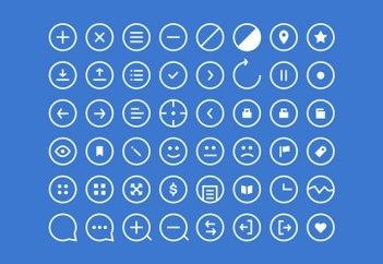 436 бесплатных иконок в пяти наборах. Ссылки в описаниях картинок.