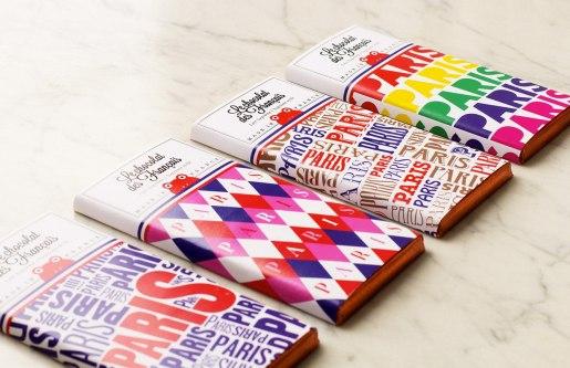 Логотип и упаковка шоколада Le chocolat des Français