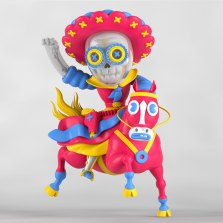 Трехмерные персонажи мексиканца Гранд Чамако (El Grand Chamaco)