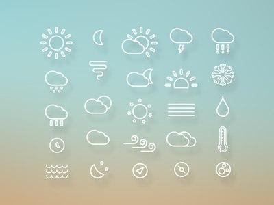 5 комплектов бесплатных погодных иконок