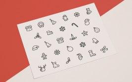 10 наборов бесплатных рождественских иконок (ссылки в описаниях картинок)