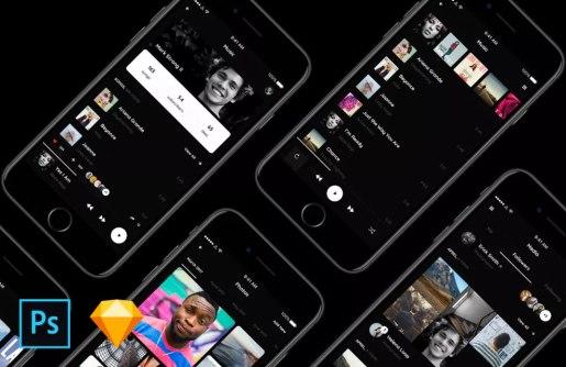 Бесплатный набор мобильных UI-элементов Vera Block