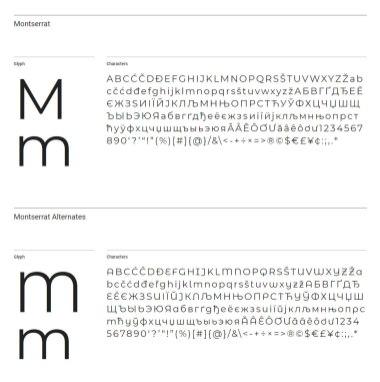 Бесплатный шрифт Monserrat получил кириллицу