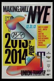Плакаты Дэвида Рудника для ночного клуба Making Time в Филадельфии