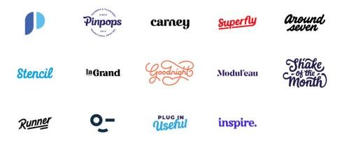 Логотипы и леттеринг Пола вон Эксайта из Амстердама