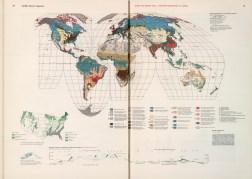 Некоторые страницы географико-экономического атласа 1953 года выпуска