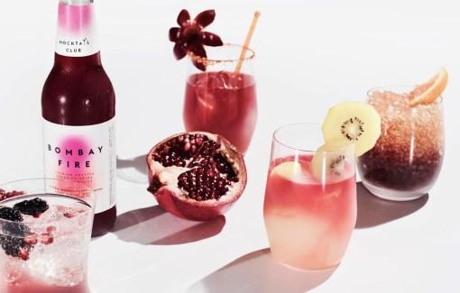 Этикетки фруктово-ягодных безалкогольных коктейлей Mocktail Club