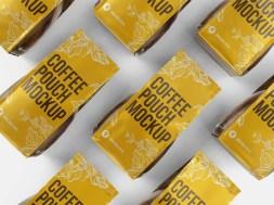 Бесплатные PSD-мокапы упаковки кофе