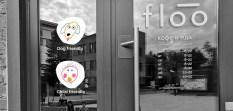 Логотип и фирменный стиль кофейни floo