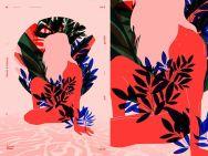 Цветы и листья в работах литовского иллюстратора Рокаса Алелюнаса