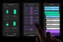 Интерфейс разработки мобильных приложений на смартфоне