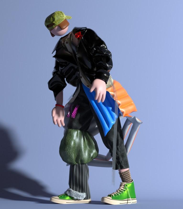 Mix and match — серия работ китайского 3D-иллюстратора UV zhu