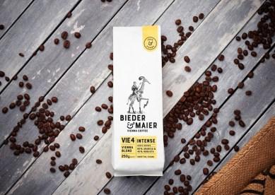 Стиль и упаковка венского кофе Bieder & Maier
