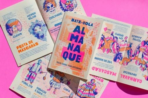 Впечатляющий дизайн альманаха о карнавалах в Рио-де-Жанейро с винтажным характером, уверенной вёрсткой и иллюстрациями в стиле полутонового изображения