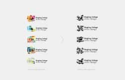 Деликатный ребрендинг Ринглингского колледжа искусств Ringling College, в котором старую визуальную метафору умело адаптировали к современным требованиям бренд-дизайна
