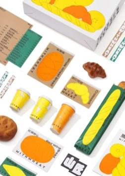 Айдентика и упаковка китайской кафе-кондитерской With Wheat