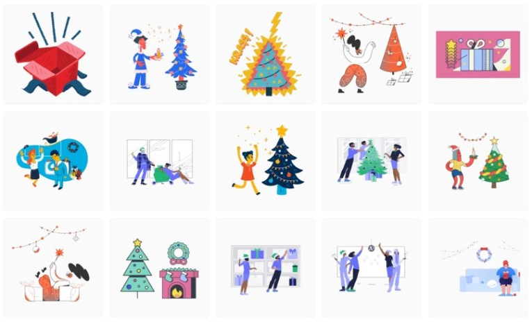 Бесплатные рождественские иллюстрации Icons8
